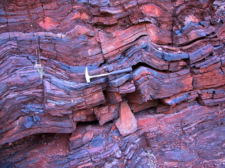De Beers Australia Field trip, October 2003. Ferruginised structures.