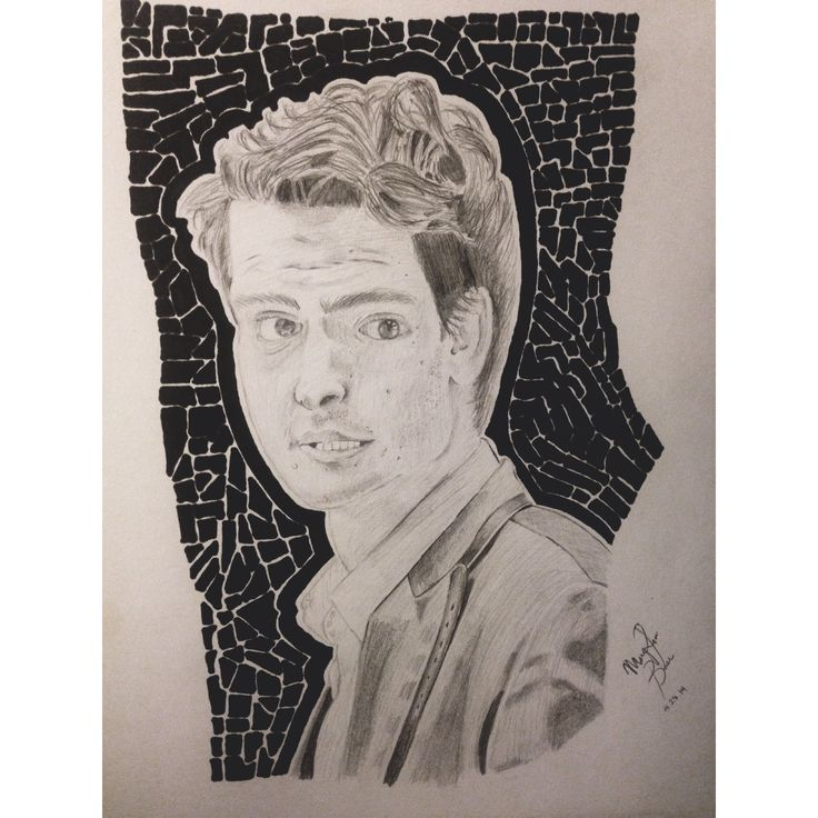 Drawing of Andrew Garfield :D