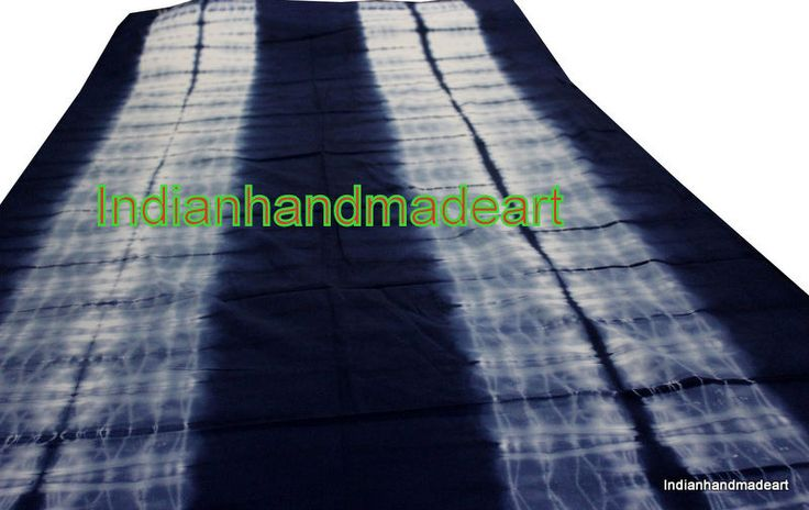 5 Yard Shibori Print Indigo Blue Cotton Fabric Indian Handmade Tie Dye Fabric #KhushiHandicraft