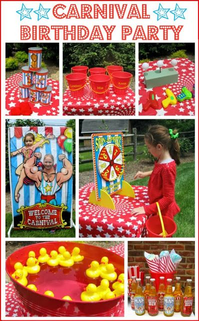 A Carnival Circus Themed Birthday Party