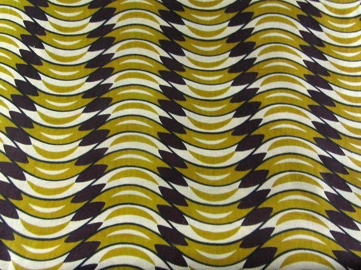 200*110cm chute tissu wax motif marron vert : Tissus Habillement, Déco par 2beornotdestock