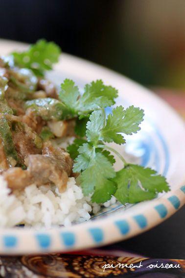Bicol Express: porc mijoté au piment vert et à la pâte de crevette