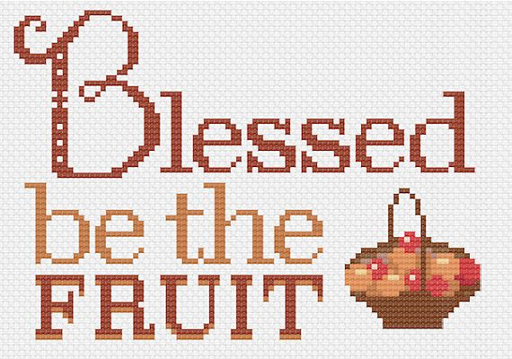PDF Handmaid's Tale Blessed Be the Fruit Cross Stitch