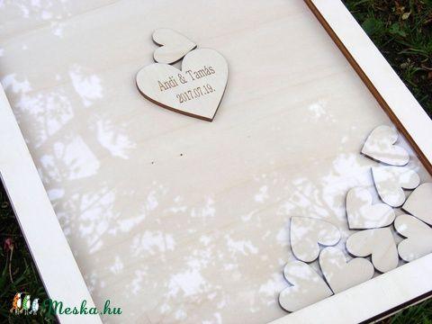 Különleges esküvői vendégkönyv, Esküvő, Dekoráció, Esküvői dekoráció, Kép, Meska