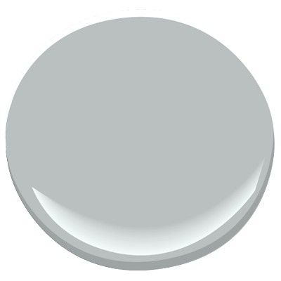 Benjamin Moore Winter Solstice. Light, cool gray with blue undertones, in bright light it looks a bit bluer but very nice: