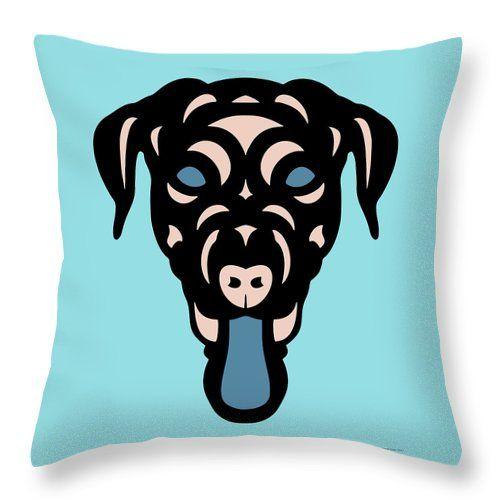 Throw Pillow Labrador Dorianna - Dog Design - Island Paradise, Pale Dogwood, Niagara Blue by Manuel Süess | More: http://artprintsofmanuel.com/products/labrador-dorianna-dog-design-island-paradise-pale-dogwood-niagara-blue-manuel-sueess-throw-pillow.html