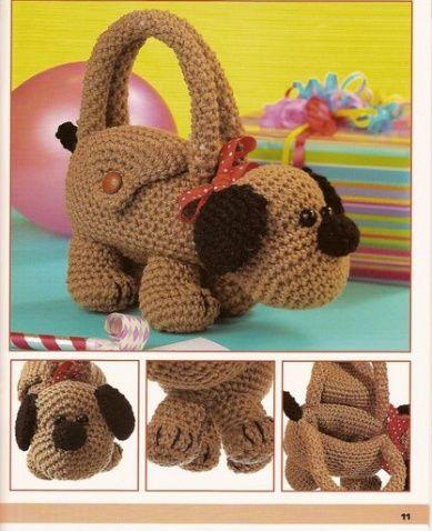 crochet Toy bag.. so cute