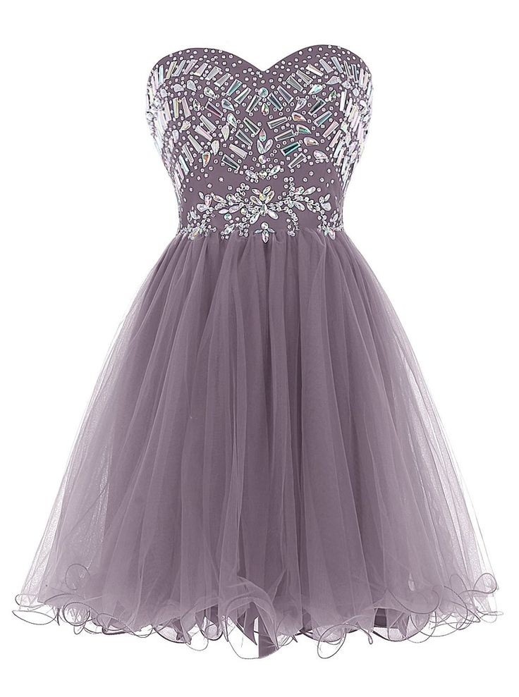 Strapless short Homecoming Dresses Beading Short Prom Dress