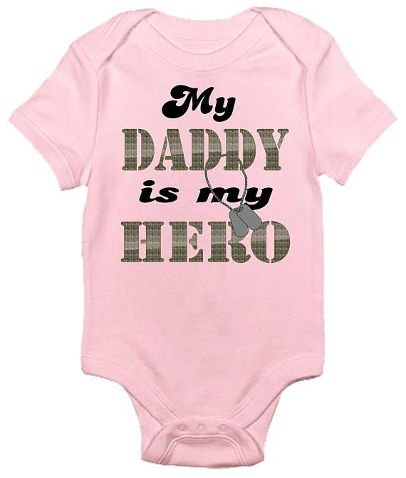 ee283249bbd My Daddy Is My Hero Baby Bodysuit Cute Baby Clothes  ad