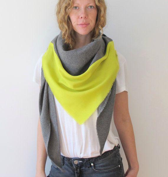 wool scarf  grey  pistazie by Aomane on Etsy, €39.00 Add indigo?