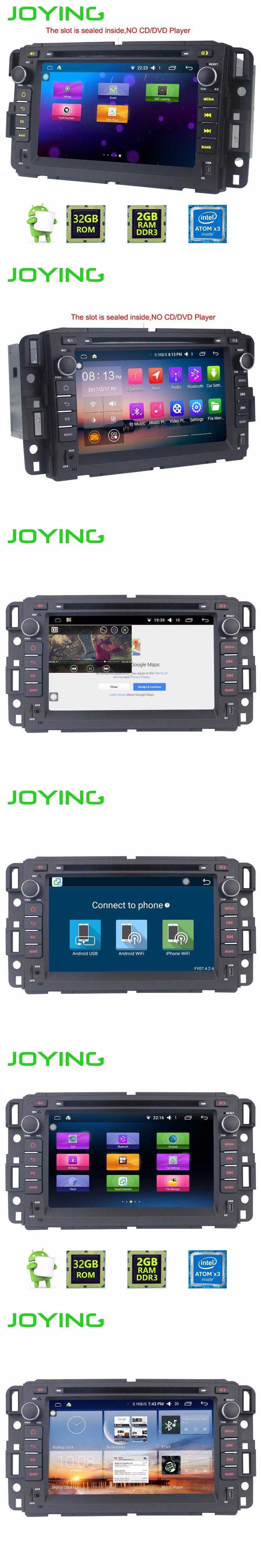 "Joying 2GB+32GB Android 5.1 Quad Core 7"" Car Stereo Radio GPS Navigation For Chevrolet Traverse Tahoe Suburban GMC Buick Enclave"
