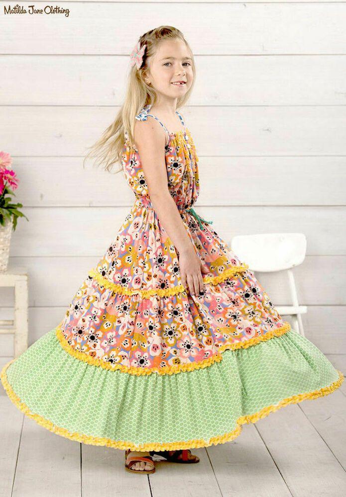 Matilda Jane Girls Size 4 6 8 Heart Song Maxi Dress The Adventure Begins NWT New