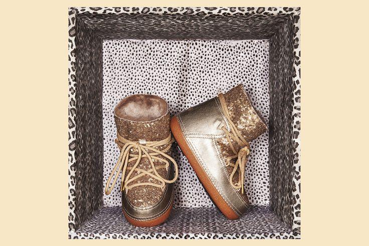 IKKII Boots Sequin Gold