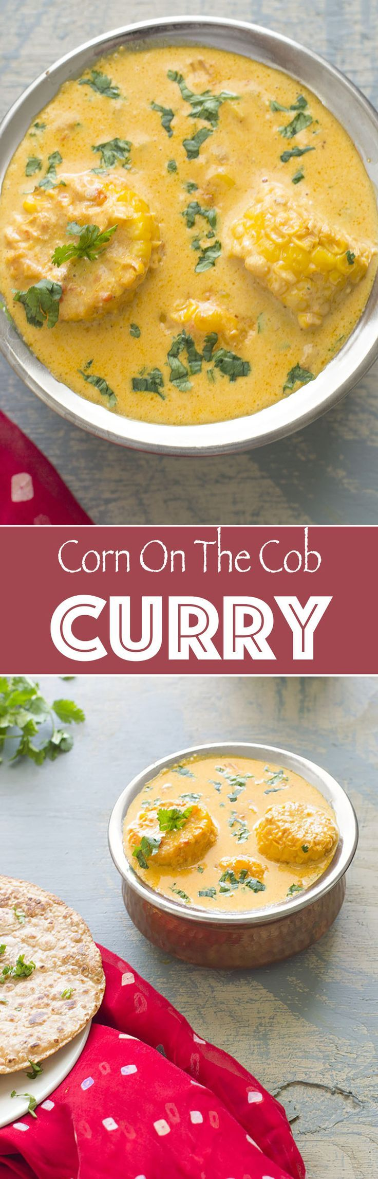 Corn on the cob curry is the perfect dinner recipe for the whole family. There are vegan options in this recipe, so, anyone can enjoy it. The best way to cook the corn is to pressure cook it. Add indian spices and serve with naan or basmati rice.