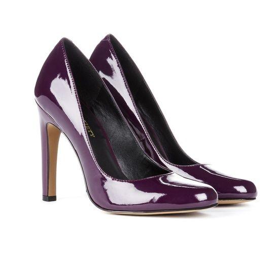 Purple Purple Purple Patent Leather Heels #purple #heels