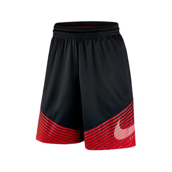 Nike Men's Elite Reveal Basketball Shorts ($40) ❤ liked on Polyvore featuring men's fashion, men's clothing, men's activewear, men's activewear shorts, mens activewear shorts and mens activewear