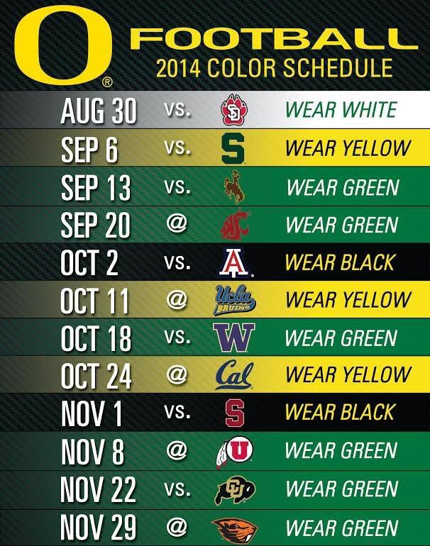 Looking forward to Michigan State, Washington, and especially Stanford #GoDucks