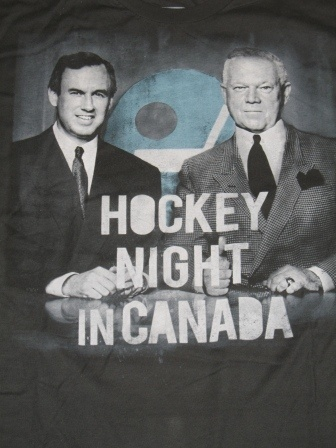 Hockey Night in Canada broadcasters Don Cherry and Ron Maclean t-shirt.  #hockey #doncherry