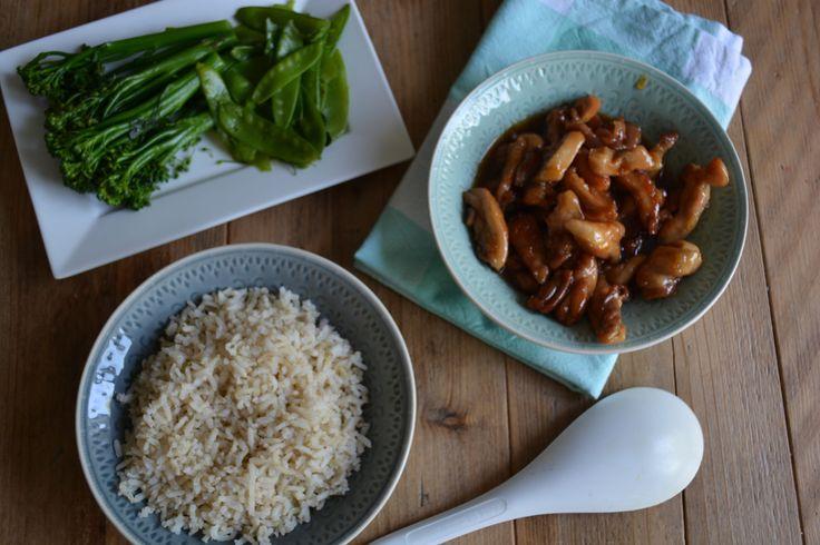 Dit recept van Donna Hay voor Gember limoen kip is een aanrader. Lekker snel klaar en samen met zilvervliesrijst en bimi een gezonde maaltijd.