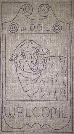 Primitive Rug Hooking Pattern - Sheep