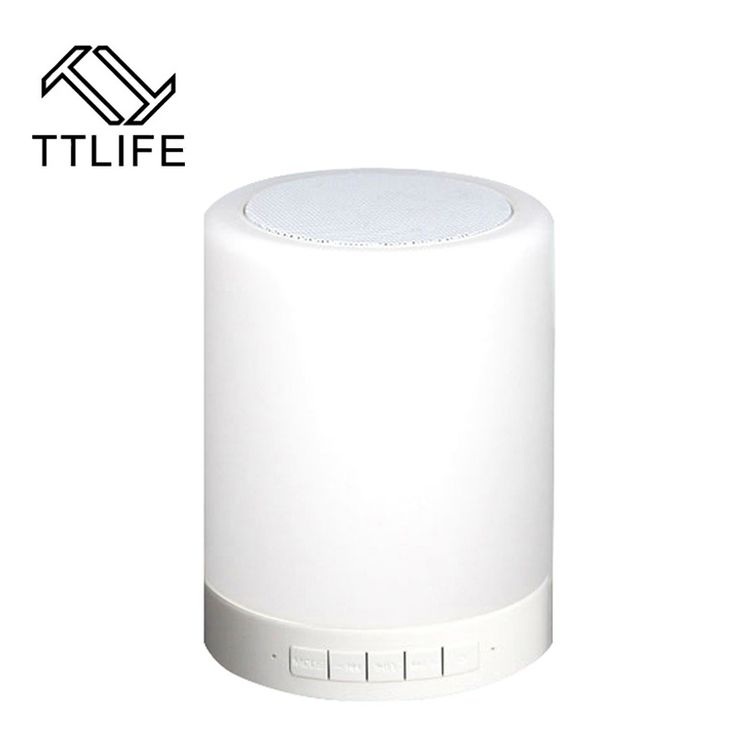 TTLIFE Bluetooth Wireless Speaker music Player with Smart Touch LED Mood Lamp Outdoor Camping,light Hands-free Bluetooth Speaker