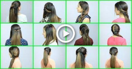 60 secondes de coiffures quotidiennes pour les débutants - École, Collège, Bureau, Parti - #beginners #college #everyday #hairstyles #of