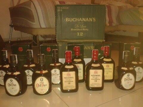 whisky buchanans y old parr al mayor