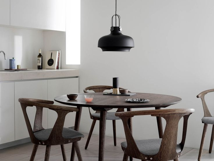 """Our ambition was to design a pendant with a simple industrial feel, but which was still elegant and poetic."""" The Copenhagen Pendant is an exercise in contrasts. Combining the classic and the modern, the maritime and the industrial, it is a new pendant developed by Space Copenhagen for &tradition. #andtradition #pendantlights #lighting #dawsonandco"""