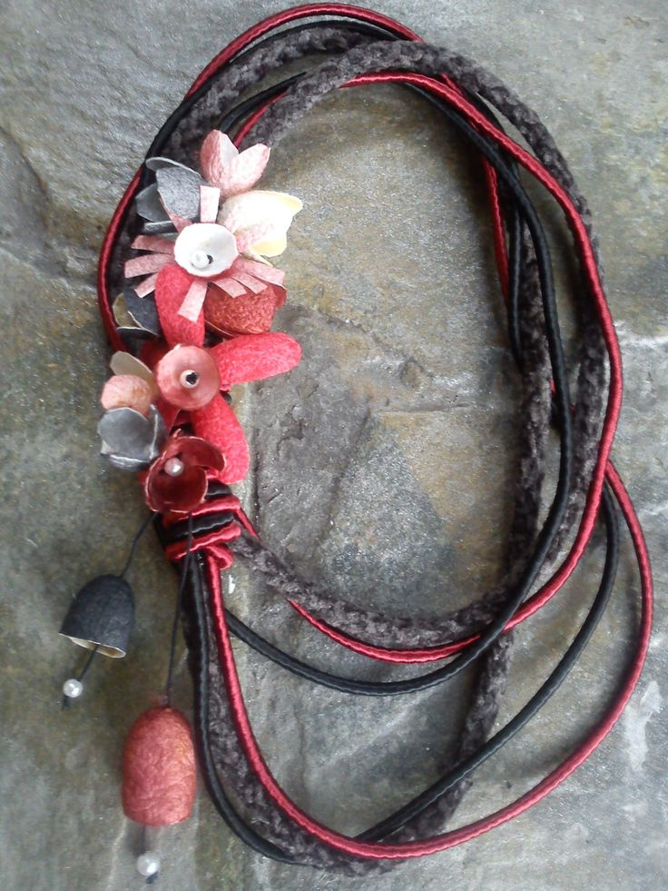 silk cocoons jewelry, necklace No82a