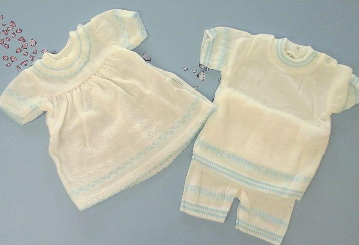 vintage tweeling  baby setje jurkje pakje zomer kleding baby maat 62 of 68 door Smufje op Etsy