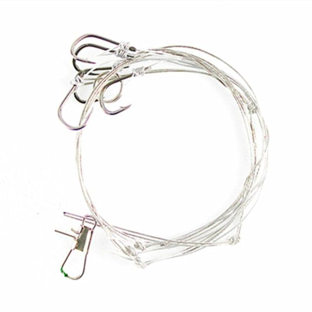 hot selling stainless steel fishing rigs wire leader 5 small hooks Carp Fishing Rigs hot selling stainless steel fishing rigs wire leader 5 small hooks swivel string hook 8