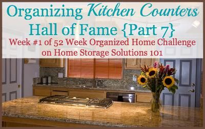 Lots of before and after pictures from participants of 52 Week Organized Home Challenge showing off their decluttered and organized kitchen counters {on Home Storage Solutions 101}