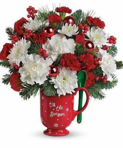 how to make a christmas arrangement in a mug utube