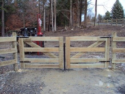 Image result for wooden gate closure