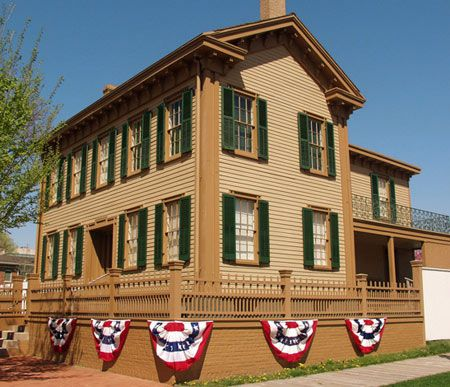 Abraham and Mary Lincoln's home in Springfield, IL.