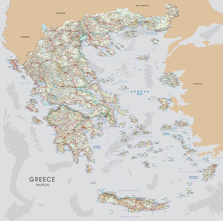 Οδικός Χάρτης Ελλάδας http://www.printcenter.com.gr/greece-map-216.html