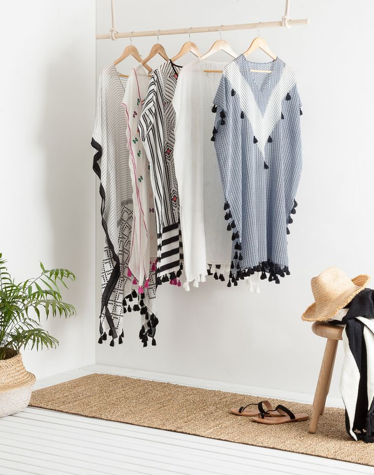 Effortless and so easy to wear, a chic kaftan can be worn through straight from the beach to the bar. With geometric prints, beautiful embroidery and playful tassels, ours   evoke the mood of far-away places – perfectly in tune with this summer's resort mood. Find our five favourites at http://www.countryroad.com.au/livewithus/summer-essentials-the-kaftan.html