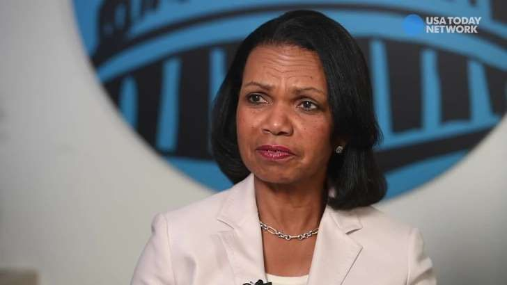 Condoleezza Rice: Don't be reassured by Le Pen's defeat  -  May 8, 2017:        Image:  Former secretary of State Condoleezza Rice warns against feeling reassured by the defeat of far-right candidate Marine Le Pen in the French presidential election Sunday.