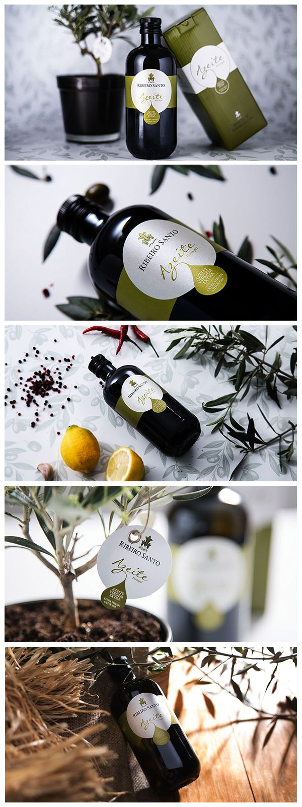 Label Design for Olive Oil. Design de Rótulo para Azeite. The label reflect the lightness, versatility and texture of the product, allowing to communicate all the imagination around the production of olive oil.