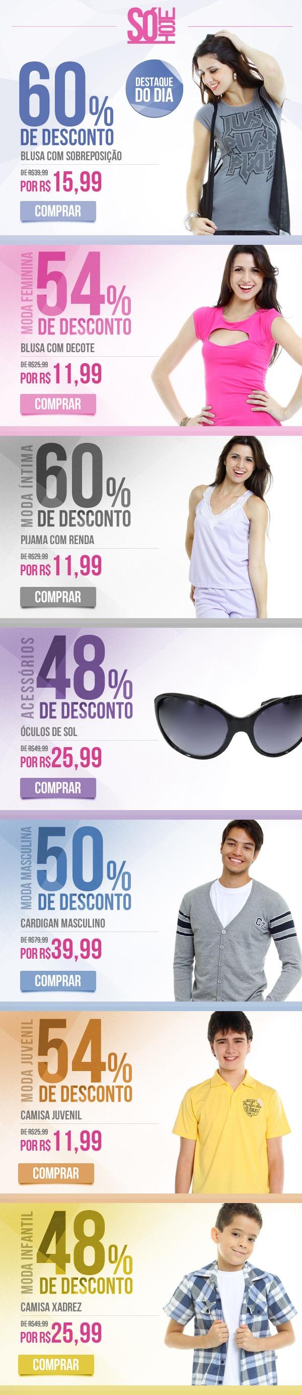 Campanha Só Hoje, www.marisa.com.br - Todas as Quartas-Feiras