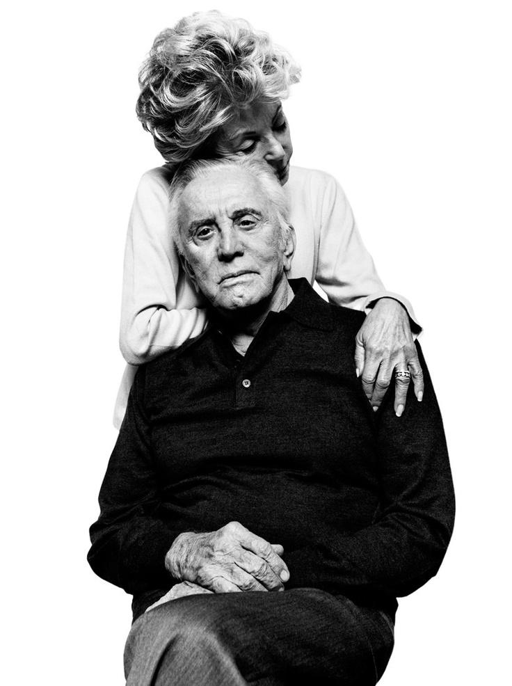 Anne Buydens & Kirk Douglas by Platon