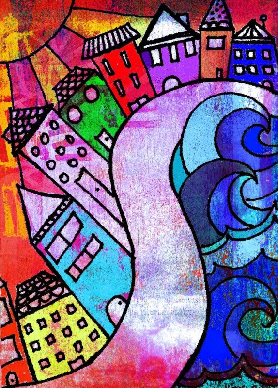 Some new ACEO's..watercolor and ink and a handpainted background layer in Corel Psp | Life In Color