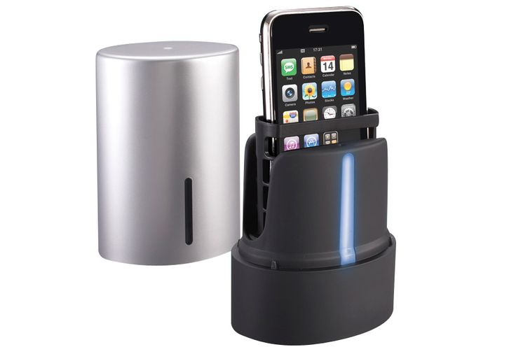 this thing instantly sanitizes your iphone. just think about how germy your phone is!