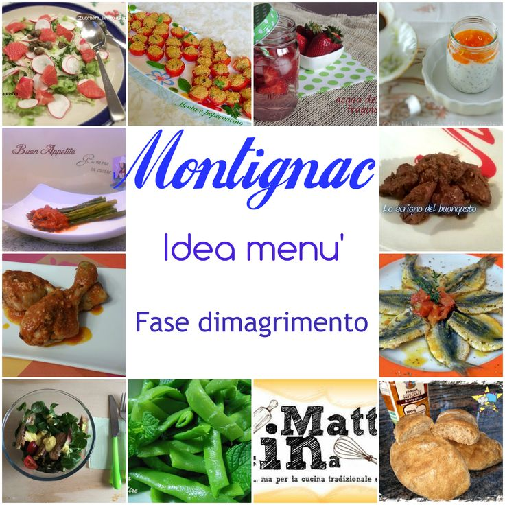 Montignac - un menù pensato per chi segue la prima fase della dieta dell'indice glicemico per perdere i chili di troppo e tornare in forma.