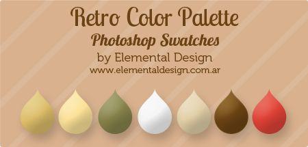 Retro. Paleta de colores