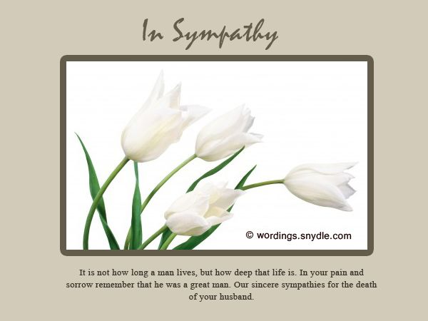 sympathy letter for loss of husband and father