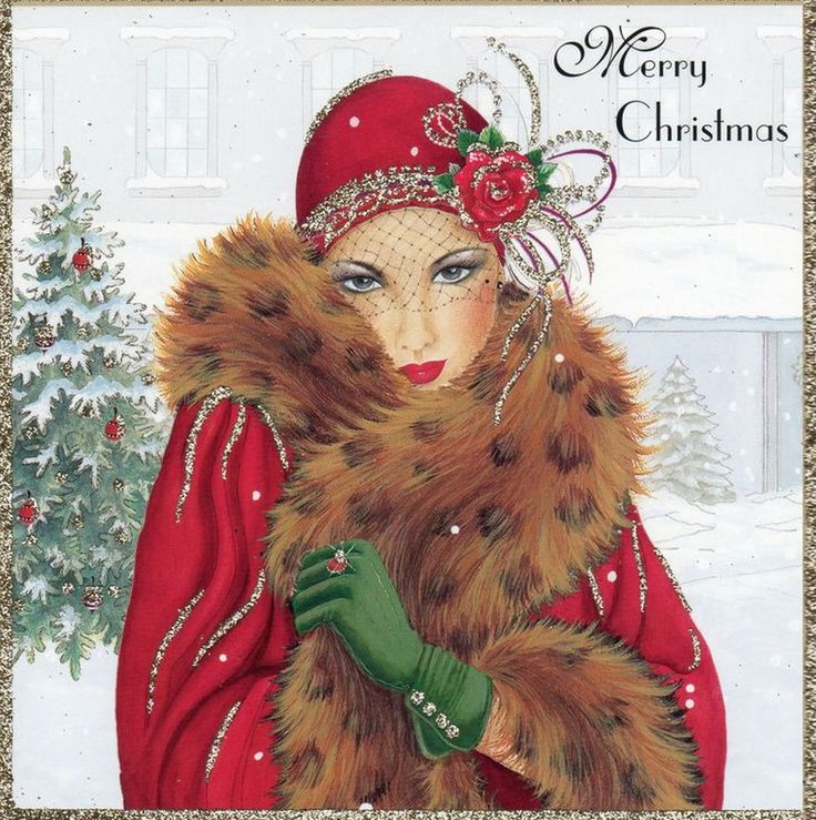 Christmas Post Сards — (896x900):