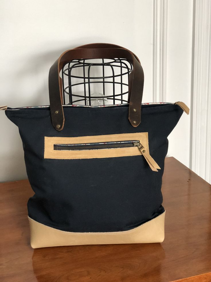 Excited to share the latest addition to my #etsy shop: Wanderer Tote - Tote Bag Canvas, Tote Bag Leather, Tote Bag Navy, Travel Bag, Beige leather, Gift for her, Unique Gift, Canvas bag navy http://etsy.me/2BMw7xE #bagsandpurses #blue #birthday #easter #beige #travelbag #totebagcanvas #totebagleather #leathertote