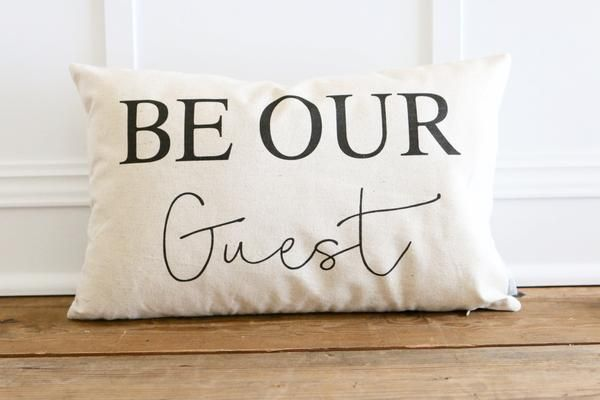 Make your guests feel at home with this pillow! Cozy up your living space with our handmade linen pillow covers by So Vintage Chic! // sovintagechic.com