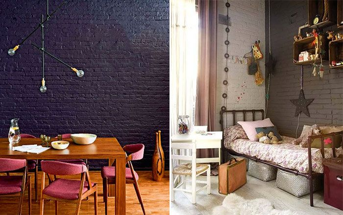 17 meilleures id es propos de murs en briques peints sur pinterest brique - Peindre 2 murs sur 4 ...